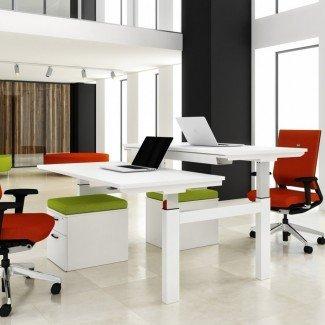 Escritorio para 2 personas: solución simple de problemas para oficinas pequeñas o