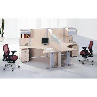 Concepto maravilloso de escritorios para 2 personas para el hogar | HomesFeed