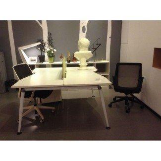 Escritorio de oficina para 2 personas / mdf Muebles de oficina para empleados - Comprar ...