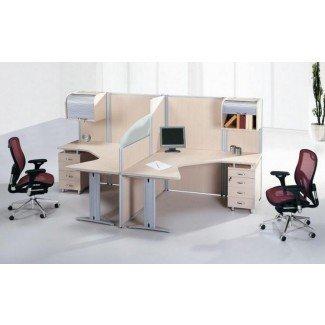 Diseño de escritorio para dos personas para su maravillosa área de oficina en el hogar