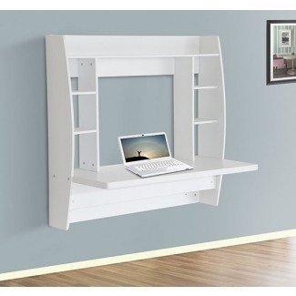 HomCom Floating Wall Mount Office Computer Desktop Storage ...