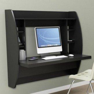 17 Mejores ideas sobre el escritorio para computadora montado en la pared en ...