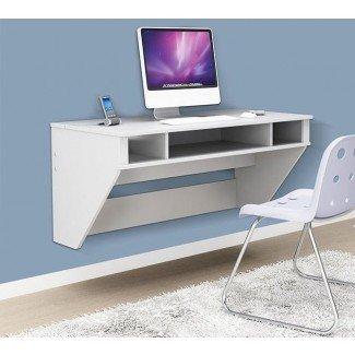 Ahorro de espacio: 22 escritorios montados en la pared para comprar o bricolaje |