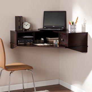 Soluciones de estación de trabajo de computadora montada en la pared de espacio pequeño