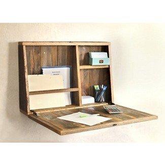 17 escritorios montados en la pared para aprovechar al máximo su pequeño