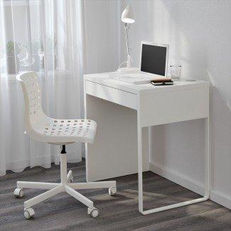 Escritorios de computadora estrechos para espacios pequeños   Escritorio minimalista ...