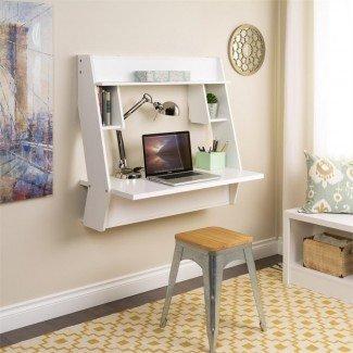 8 escritorios montados en la pared que ahorran espacio en espacios pequeños