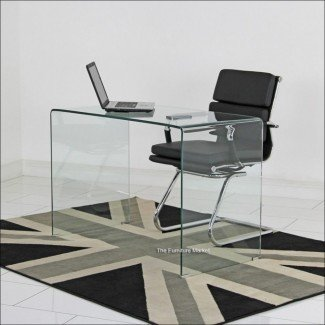 Dormitorio Pequeño escritorio de esquina negro Pequeños escritorios blancos Pequeño ...