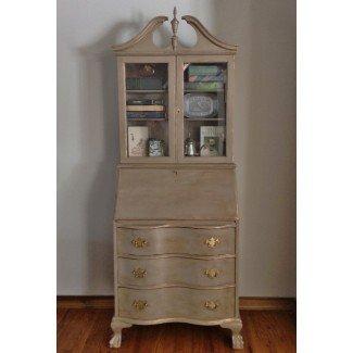 Vintage / antiguo escritorio de secretaria de caoba / Hutch restaurado ...