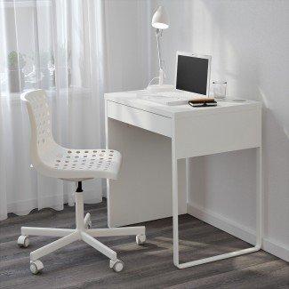 Escritorios de computadora estrechos para espacios pequeños   Minimalist Desk ...