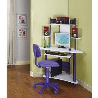 Ideas de diseño para el hogar populares del escritorio de computadora de espacio pequeño ...