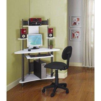 Muebles: el mejor juego de escritorio y silla de computadora blanca para ...