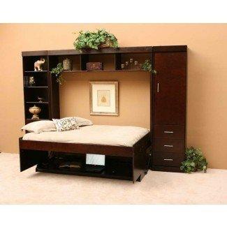 Muebles: combinación de escritorio Murphy Bed con almohadas decorativas ...