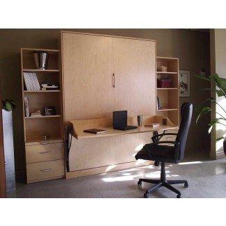 Bloombety: Camas Murphy con escritorio y estantería Camas Murphy