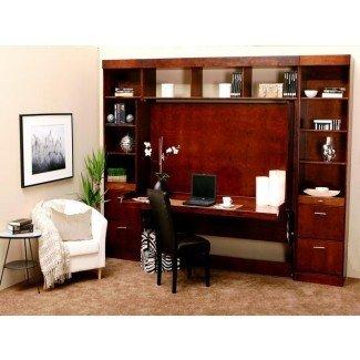 Cama Murphy con escritorio marrón | Stroovi