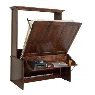 Murphy Wall Cama y escritorio | Cama de escritorio Murphy de Amish