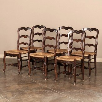Country French Dining Chairs - Diseño de todas las sillas