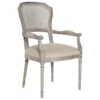 Capuleto French Country Caned Back Oak Dining Arm Chair ...