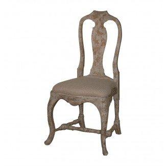 Silla de comedor campestre francesa gris antiguo Provence   Kathy ...