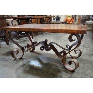 Base de mesa de café de hierro forjado, mesa de centro Porfirio ...