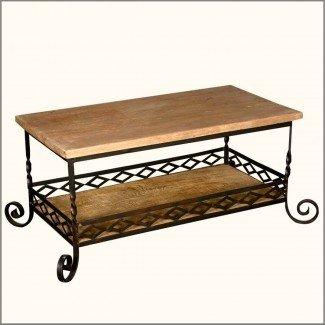 Mesa de centro de hierro forjado con patas - Ideas de mesas de café