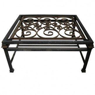 Ideas de mesas de centro: Mesa de centro de hierro forjado con vidrio ...