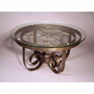 Impresionante mesa de centro redonda de hierro forjado - redonda ...