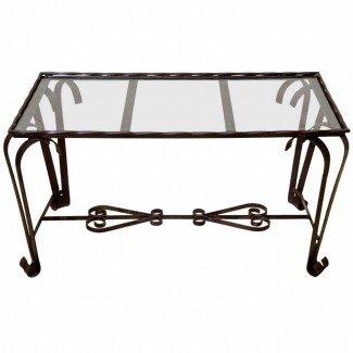 Mesa de centro de hierro forjado con patas - Ideas de mesas de centro