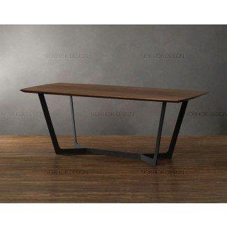 Mesa de centro vintage de hierro forjado de madera americana ...