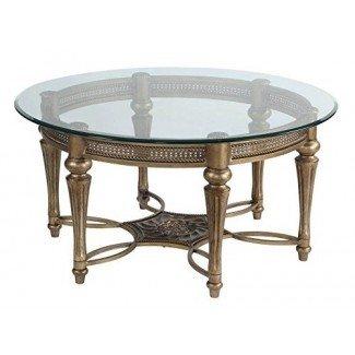 37506 Colección de mesa de cóctel redonda de Galloway con tapa de vidrio