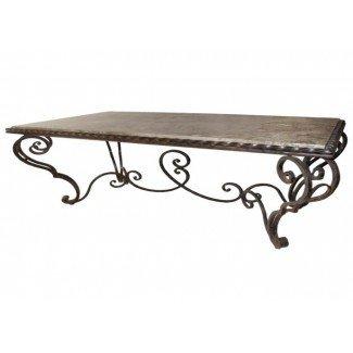 mesa de centro francesa de hierro forjado del país   Café único ...