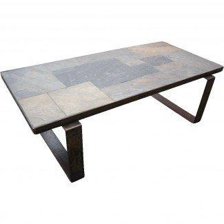 Hermosa mesa de centro vintage artesanal de hierro forjado ...