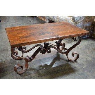 Mesa de centro bicolor de hierro forjado - Ideas de mesas de café
