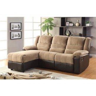 Sofá seccional con chaise lounge y reclinable Seccionable ...