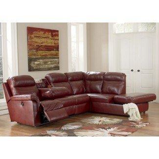 Sofá composable pequeño con sillón reclinable - Chocolate pequeño ...