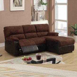 Los mejores sofás seccionales con sillones reclinables y chaise   HomesFeed