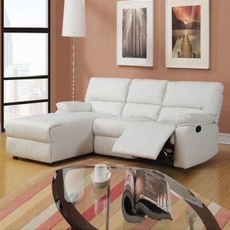 HomeOfficeDecoration   Pequeño sofá seccional con sillón reclinable
