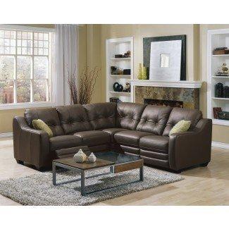 Sofá reclinable para sofá seccional de pequeña escala  