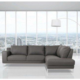 Alsatia Casa Primrose - Sofá seccional moderno de cuero ecológico