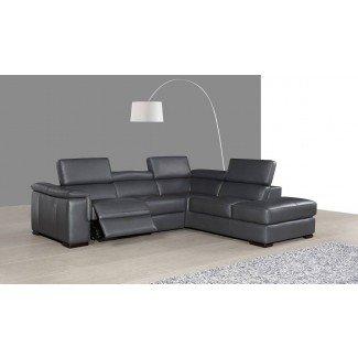 Sillón reclinable de sofá seccional de pequeña escala  