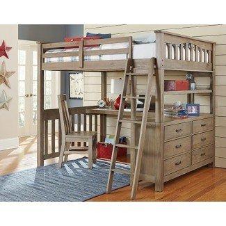 Cama alta para adultos de tamaño completo con escritorio - hogar ...