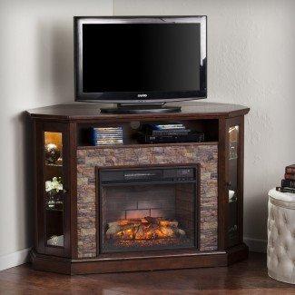 """Montpelier Corner Convertible 50 """"Base TV con chimenea"""