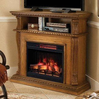Soporte de TV para chimenea eléctrica de esquina | Andrew Bingham