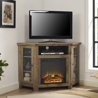 Soporte de TV de esquina con chimenea eléctrica | Wayfair