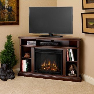 Real Flame Churchill Corner - Chimenea eléctrica para interiores