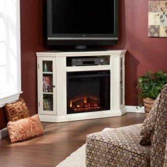 Ideas de soporte de TV para chimenea eléctrica de esquina pequeña | Small ...
