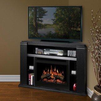 Ideas de soporte de TV para chimenea eléctrica de esquina pequeña | Pequeño ...