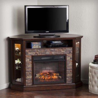 Southern Enterprises Redden Corner Electric Fireplace TV ...
