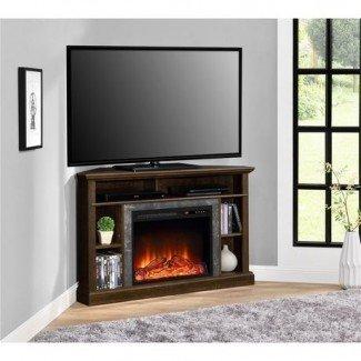 Dorel Overland Electric Fireplace Corner TV Stand |