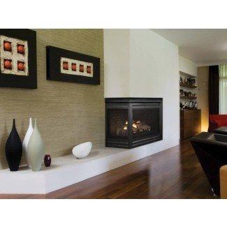 Impresionante arquitectura Stone Stone Fireplace Corner Gas ...